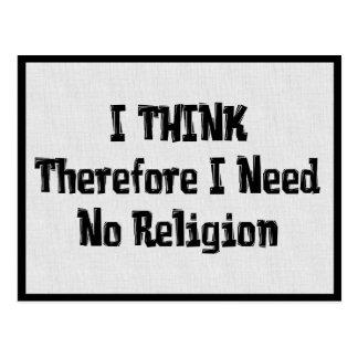 Postal No necesite la religión