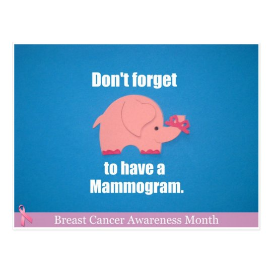 Postal No olvide tener un mamograma