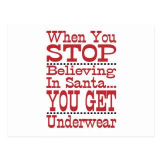 Postal No pare el creer en Santa