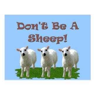 Postal No sea una oveja (la conformidad)