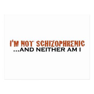 Postal No soy esquizofrénico