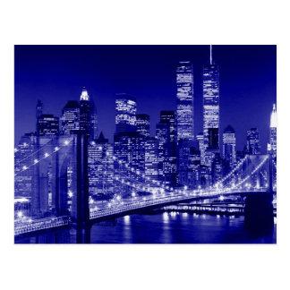 Postal Noche azul de New York City