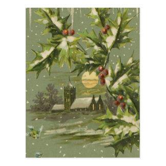 Postal Noche de la Nochebuena del vintage