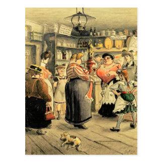 Postal Noche de las señoras en el Pub