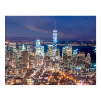 Postal Noche de Manhattan