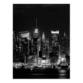 Postal Noche de New York City
