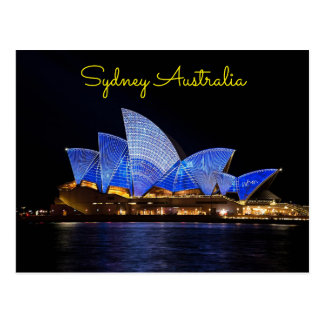Postal noche de Sydney Australia