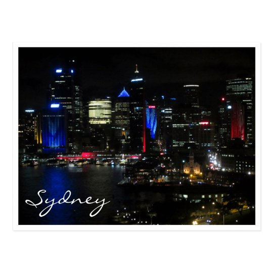 Postal noche de Sydney viva