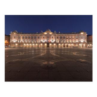 Postal Noche de Toulouse Capitole