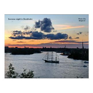 Postal Noche de verano en Estocolmo, Phot…