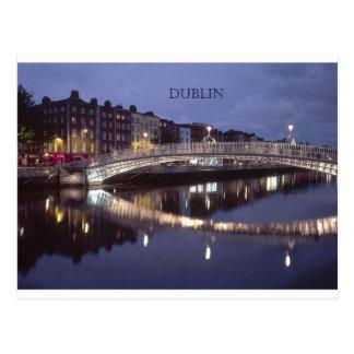Postal Noche del puente de Irlanda Dublín (St.K)
