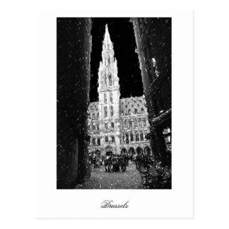 Postal Noche en el lugar magnífico, Bruselas