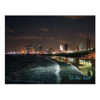 Postal Noche en Tel Aviv, Israel