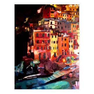 Postal Noche mágica de Cinque Terre en Riomaggiore