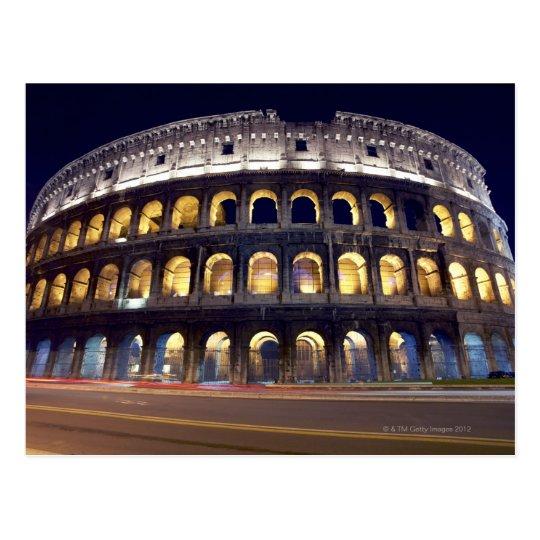 Postal Noche tirada de Colosseum