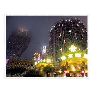 Postal noches del casino de Macao