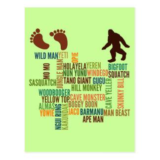 Postal Nombres para Bigfoot