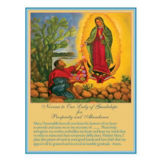 Postal Novena a nuestra señora de Guadalupe