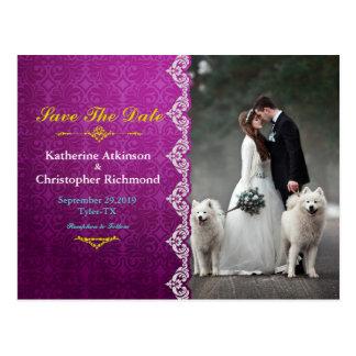 Postal Novia y novio - navidad de los pares - perros