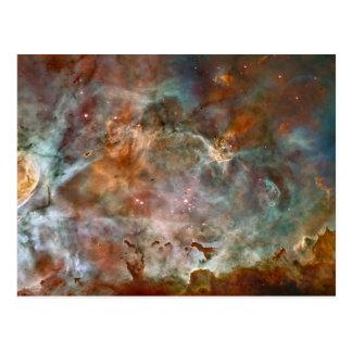 Postal Nubes de la oscuridad de la nebulosa de Carina