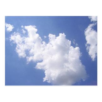 Postal Nubes en el cielo
