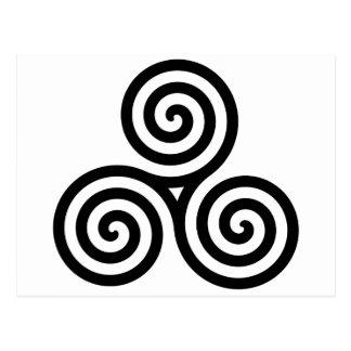 Postal Nudo II de Triquetra del Celtic