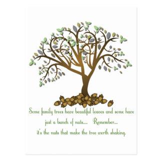 Postal Nueces del árbol de familia