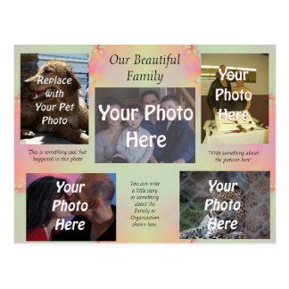 Postal Nuestras fotos de familia hermosas
