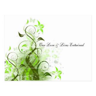 Postal Nuestro amor y vidas entrelazaron la vid RSVP