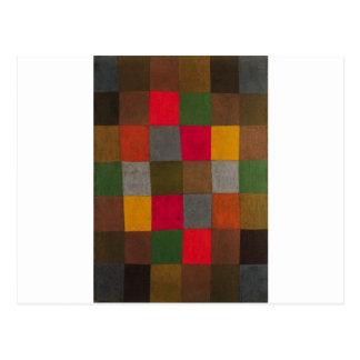 Postal Nueva armonía de Paul Klee