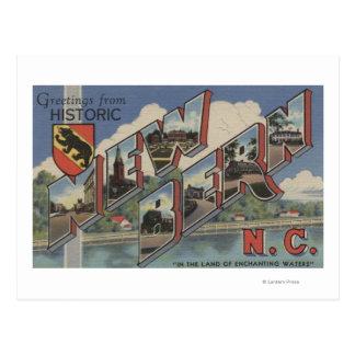 Postal Nueva Berna, Carolina del Norte - escenas grandes