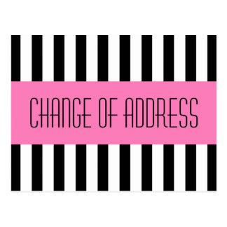 Postal Nueva mudanza rosada de moda de moda de la