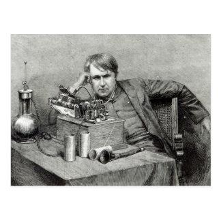 Postal Nuevo fonógrafo de Mr.Edison