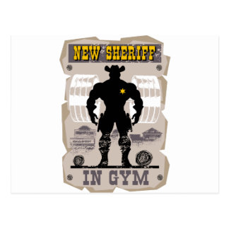 Postal nuevo sheriff en gimnasio