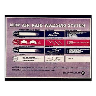 Postal Nuevo sistema de alarma del ataque aéreo