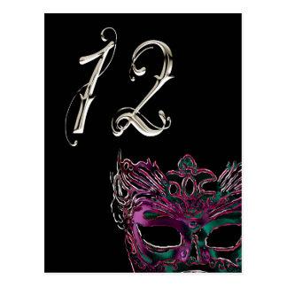 Postal Número de la tabla de la mascarada