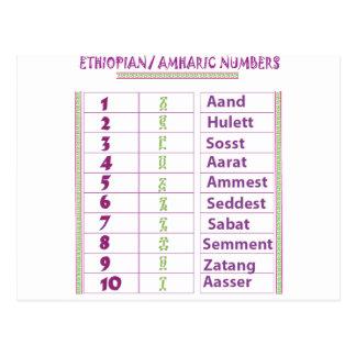 Postal Números etíopes/del Amharic