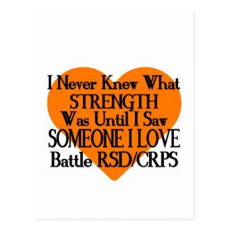Postal Nunca sabía… alguien el amor… RSD/CRPS de I