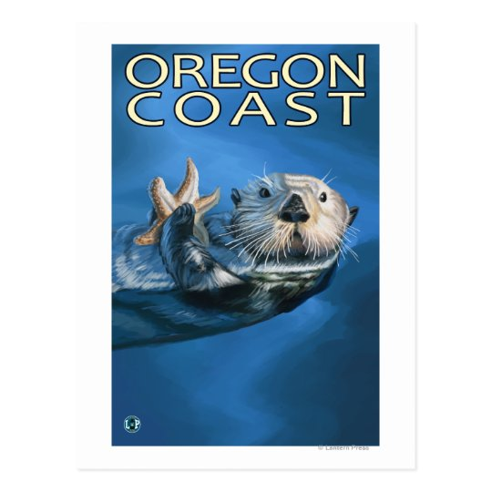Postal Nutria de mar de la costa de Oregon