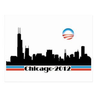 Postal Obama 2012 - Horizonte de Chicago