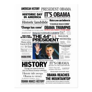 Postal Obama: El 44.o presidente Headline Collage