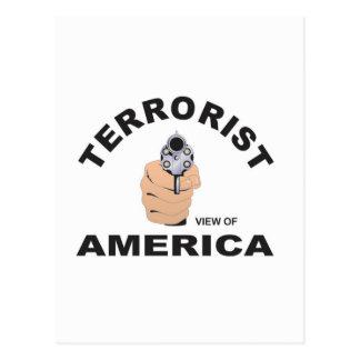 Postal objetivos de los E.E.U.U. para matar al terrorista