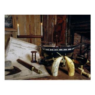 Postal Objetos de Desk de un capitán del siglo XIX