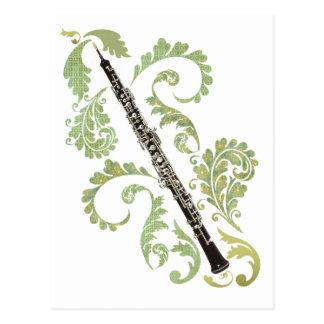Postal Oboe y follaje
