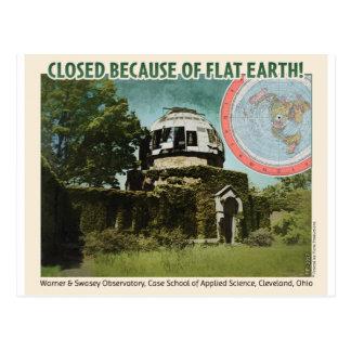 Postal ¡Observatorio cerrado, debido a la tierra plana!
