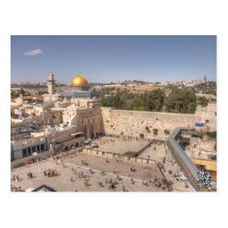 Postal occidental de Jerusalén de la pared