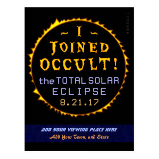 Postal Oculto divertido eclipse solar del 21 de agosto de