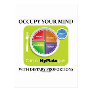 Postal Ocupe su mente con las proporciones dietéticas