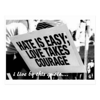Postal odio, vivo por esta cita….