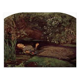 Postal Ofelia de John Everett Millais
